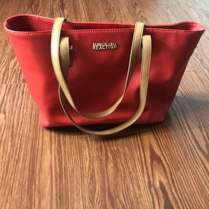 Kenneth Cole Reaction Red Tote Bag.